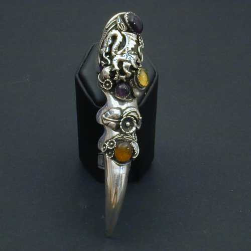 Shining Moon Jewelry Gallery Amethyst And Amber Dragon