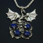Lapis Dragon Egg Nest Pendant